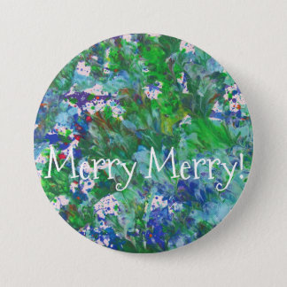 Holly Merry Button by KitCaseyStudio