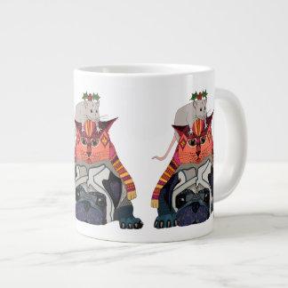 holly mouse cat pug large coffee mug