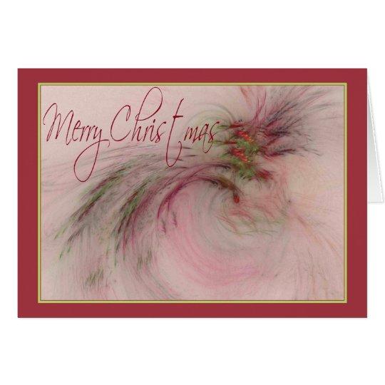HOLLY 'N BERRIES ~ Merry Christmas Card