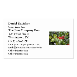 Holly Photo Business Card Templates