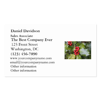 Holly Photo Business Card Template