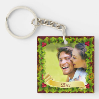 Holly Photo Keepsake Key Ring
