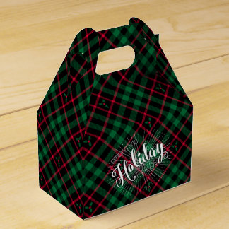 Holly Plaid l Sending you Holiday Cheer Favour Box