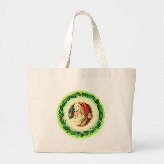 HOLLY & SANTA by SHARON SHARPE Canvas Bag