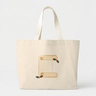 Holly Scroll Jumbo Tote Bag