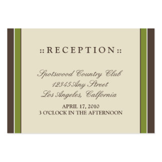 "::holly:: Simply Elegant 3.5""x2.5"" Reception Card Large Business Cards (Pack Of 100)"