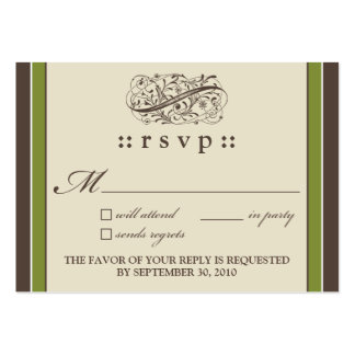 """::holly:: Simply Elegant 3.5""""x2.5"""" RSVP Card_v2 Pack Of Chubby Business Cards"""