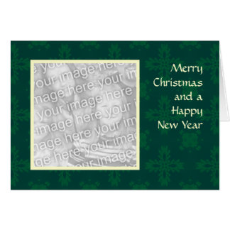 Holly Snow Christmas Template Greeting Card