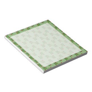 Holly Sprigs on Green Notepad