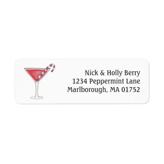 Holly-tini Return Address Label