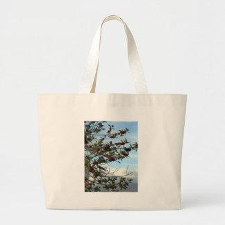 Holly tree jumbo tote bag