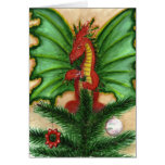 Holly Treetop Dragon Greeting Cards