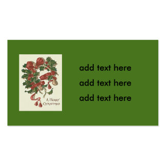 Holly Wishbone Red Ribbon Winterberry Pack Of Standard Business Cards