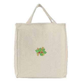 Holly with ribbon canvas bags
