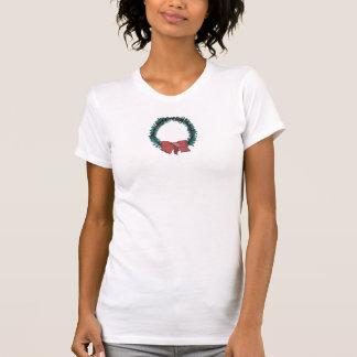 Holly Wreath & Bow Tee Shirt