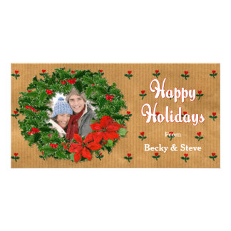 Holly Wreath Country Photo Cards