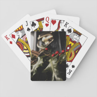 Holly Wreath Playing Cards