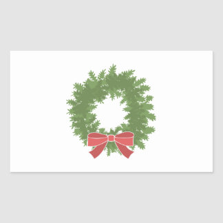 Holly Wreath Rectangle Stickers