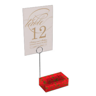 HollyBerry Table Card Holder