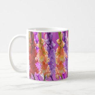 Hollyhock Blooms Of Elegance, Coffee Mug