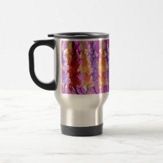 Hollyhock Blooms Of Elegance, Travel Mug