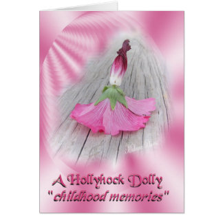 """Hollyhock Dolls"" Card"