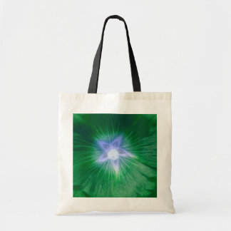 Hollyhock Flower Gorgeous Green Budget Tote bag