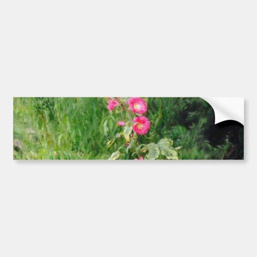 Hollyhock on the Forgotten Path Bumper Sticker