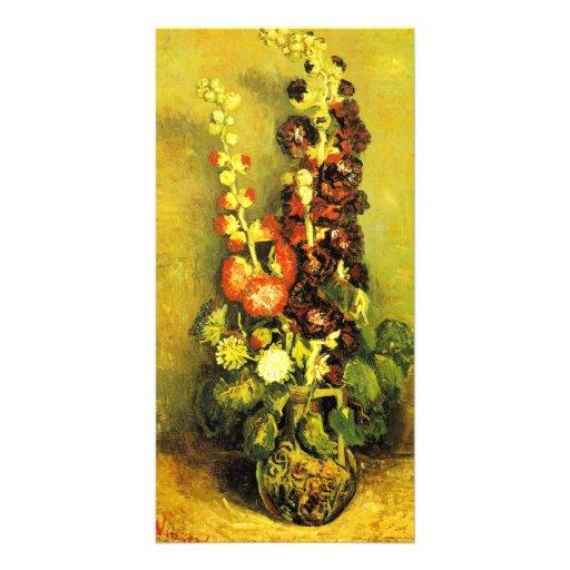 Hollyhocks by Vincent van Gogh Customized Photo Card