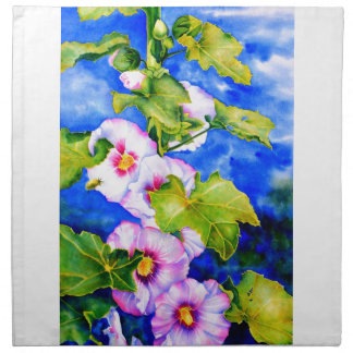 Hollyhocks Cloth Napkin