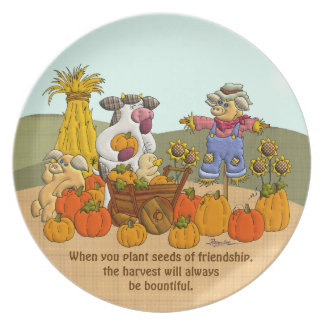 Holly's Friendship Harvest Plate