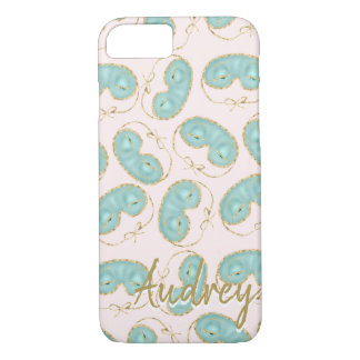 Holly's Sleeping Mask Pattern Personalised iPhone 8/7 Case
