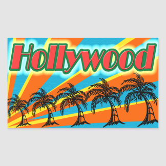 Hollywood 5 Palm Trees Stickers