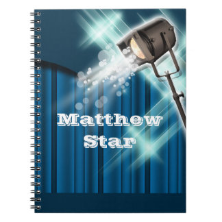 Hollywood actor stage name blue notebooks