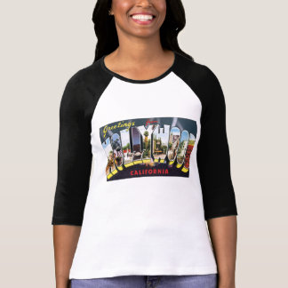 HOLLYWOOD and CALIFORNIA vintage luggage labels T-Shirt