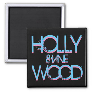 Hollywood and Vine Square Magnet