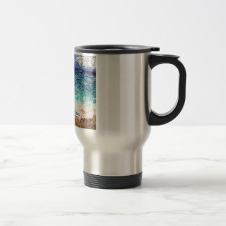 Hollywood Beach Art Travel Mug