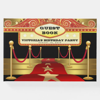 Hollywood Birthday Party Guest Book