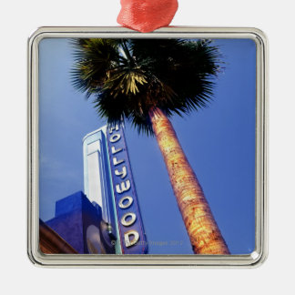 Hollywood Boulevard, Los Angeles Metal Ornament