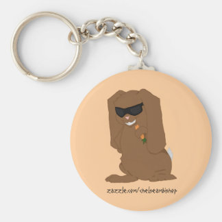 Hollywood Bunny Basic Round Button Key Ring