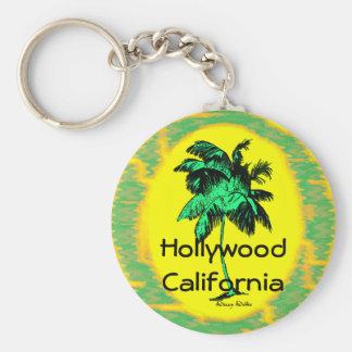 Hollywood CA Palm Tree Key Chain