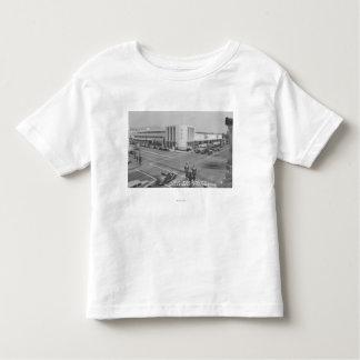 Hollywood, CA View of Radio City and NBC Studios Tee Shirts