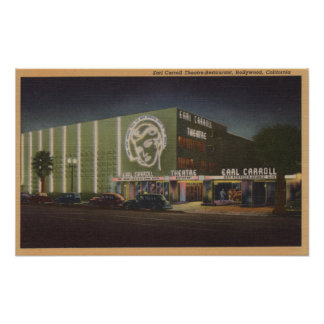 Hollywood, CAEarl Carroll Theatre & Restaurant Poster