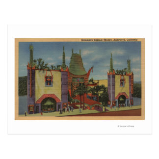 Hollywood, CAGrauman's Chinese Theatre View Postcard