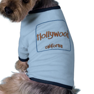 Hollywood California BlueBox Dog Shirt