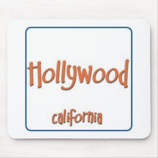 Hollywood California BlueBox Mouse Pad