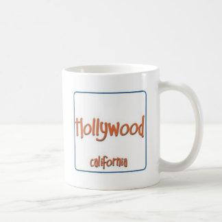 Hollywood California BlueBox Basic White Mug