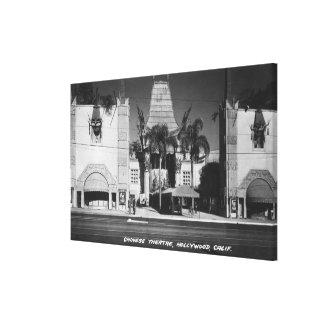 Hollywood, California Chinese Theatre View Gallery Wrapped Canvas