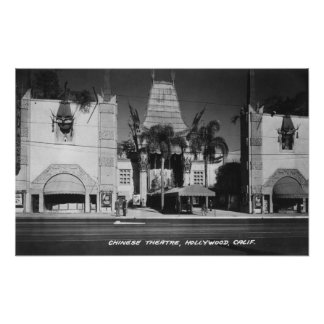 Hollywood, California Chinese Theatre View Print