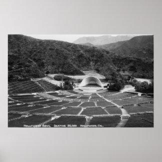 Hollywood, California Hollywood Bowl View Poster